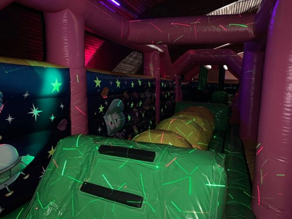 Inflatable park - glow in the dark stars